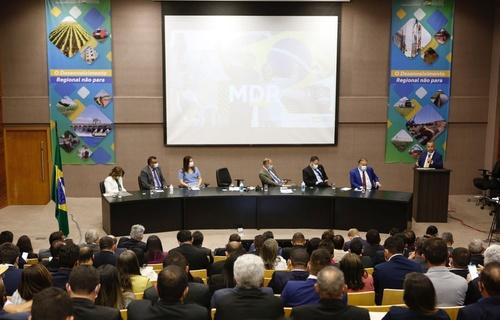 Durante o encontro, Marinho destacou aos participantes o trabalho realizado pela atual gestão para melhorar a vida da população potiguar (Foto: Dênio Simões/MDR)