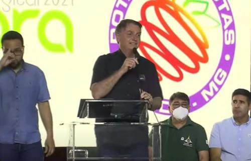 Bolsonaro discursa durante Fórum da Rota da Fruticultura da RIDE/DF