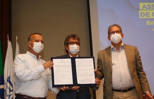 Documento assinado nesta sexta-feira (3) prevê atuação conjunta do MDR e da FIERN para a elaboração de uma série de estudos para avaliar a possível instalação de um polo minero-químico na região oeste potiguar (Foto: Dênio Martins/MDR)