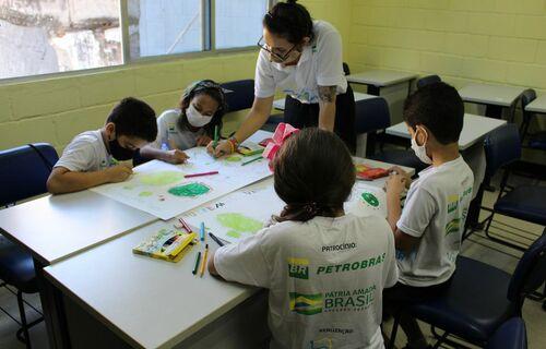 Sala de Aula. Foto: Fundação Gol de Letra.