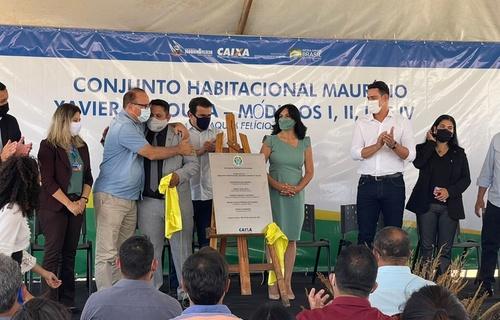 O Conjunto Habitacional Maurício Xavier de Souza, que integra o Programa Casa Verde e Amarela, recebeu investimento federal de R$ 13,3 milhões. Foto: Divulgação
