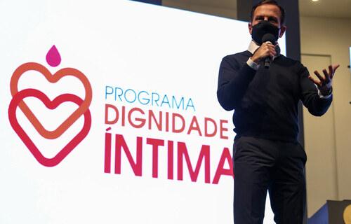 Lançamento do programa Dignidade Íntima. Foto: Governo de São Paulo.