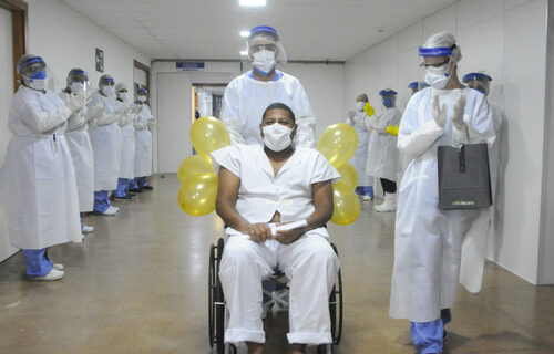 Paciente recuperado da Covid-19 - Foto: Geovana Albuquerque/Secretaria de Saúde DF