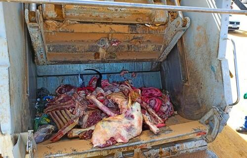 Carne clandestina. Foto: Prefeitura de Linhares.