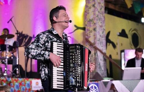 Fabiano Guimarães, sanfoneiro. Foto: Arquivo pessoal.