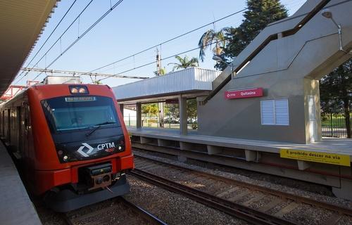 A Quitaúnas é uma das 20 estações que integram a linha 8 - Diamante da CPTM (Foto: Governo do Estado de São Paulo)