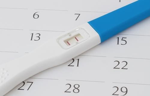 Teste de gravidez. Foto: CNM.