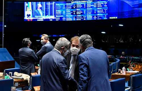 Votação do PL 2110/2019. Foto: Arquivo/Senado