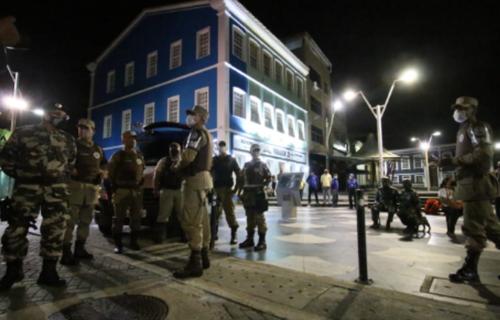 Toque de recolher. Foto: Secretaria de Segurança Pública da Bahia.