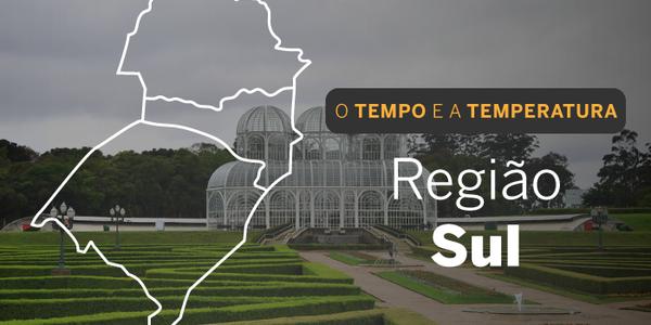 O TEMPO E A TEMPERATURA: Tempo seco e frio predomina na região Sul, neste domingo