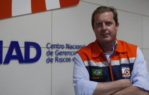 Armin Braun, coordenador da missão brasileira e diretor do Centro Nacional de Gerenciamento de Riscos e Desastres, o Cenad. Foto: MDR/Divulgação: