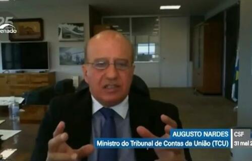 Augusto Nardes, ministro do TCU. Foto: Reprodução/ TV Senado.