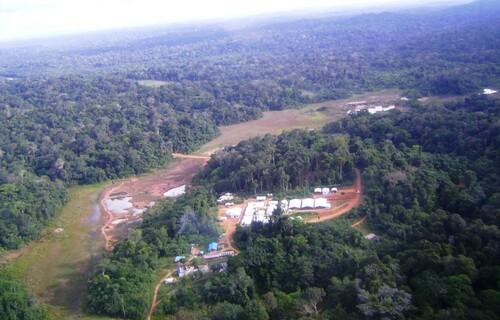 Vista aérea do projeto Tocantinzinho. Fonte: Eldorado Gold