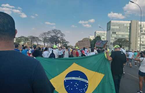 Em Brasília, manifestação ocorreu na Esplanada dos Ministérios. Foto: Cristiano Ghorgomillos/Brasil 61