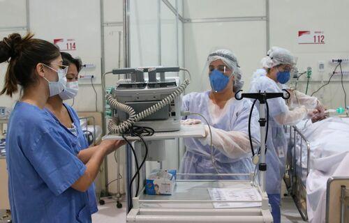 Hospital de campanha de Covid-19. Foto: Rovena Rosa/ Agência Brasil.